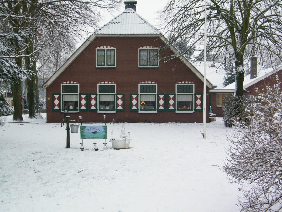 Woonhuis Stroe Ouderwets Rustiek Winter