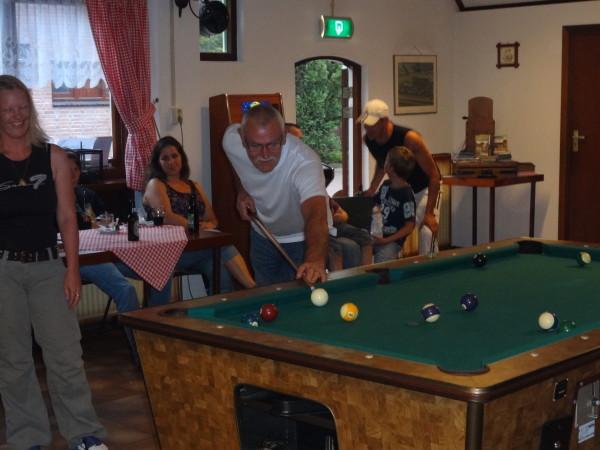 Pool Snooker animatie Spelen Binnenspel Camperen Kamperen Camping Stroe
